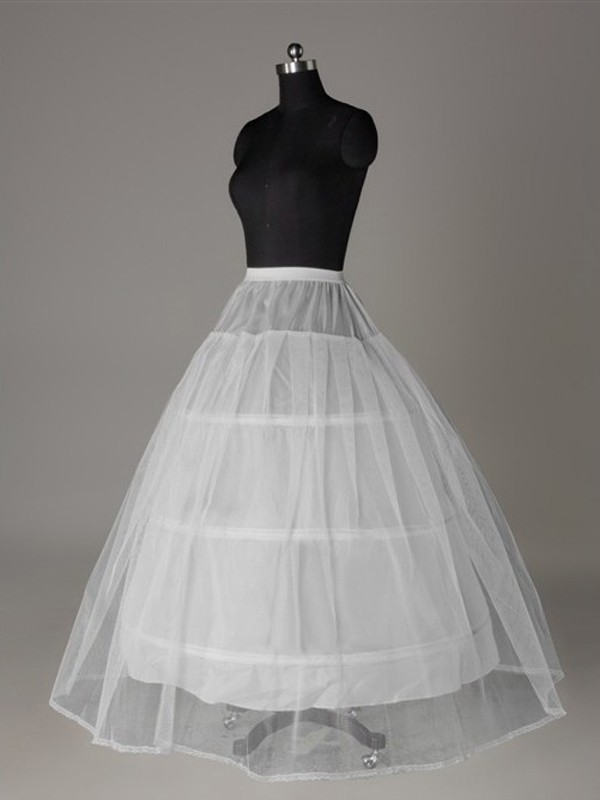 New Tulle Netting Ball-Gown 2 Tier Floor Length Slip Wedding Petticoat