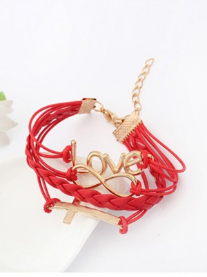 Chic Korean version Romantic Password love Cross Bracelet