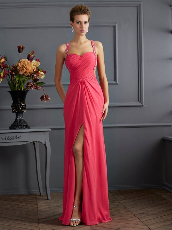 Beautiful Empire Sweetheart Sleeveless Long Chiffon Dress