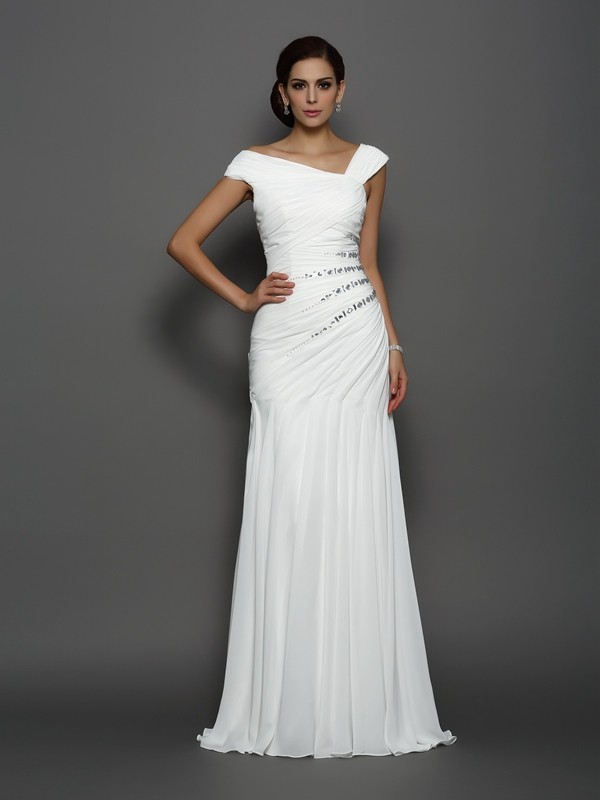 Classical Mermaid Sleeveless Long Chiffon Dress