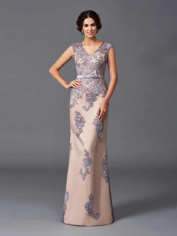 Amazing Sheath Straps Sleeveless Long Satin Dress