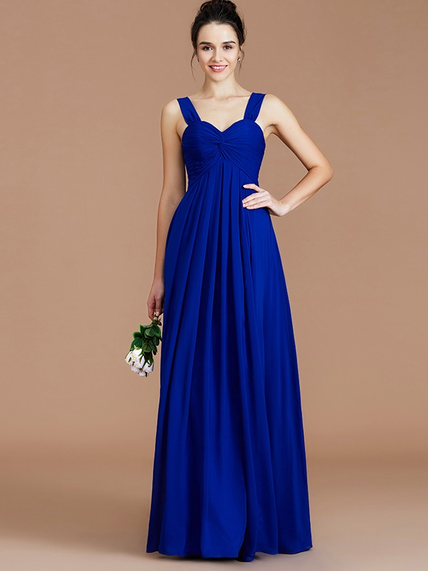 Fancy Empire Sweetheart Sleeveless Floor-Length Chiffon Bridesmaid Dress