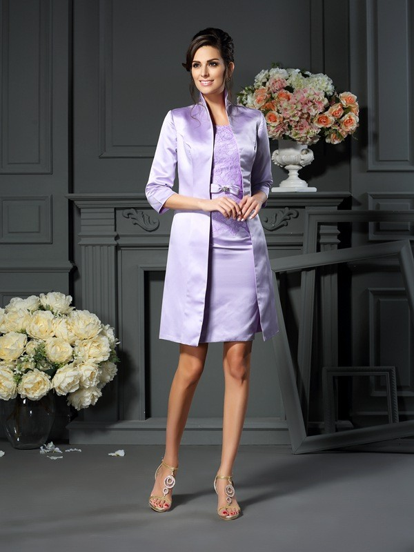 Chic Satin 3/4 Sleeves Special Occasion Wrap
