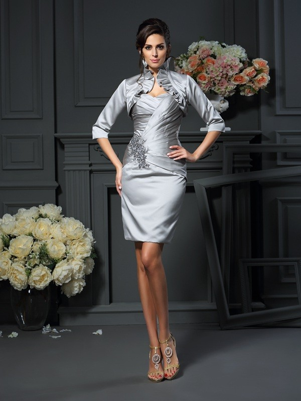 Chic Satin Half Sleeves Special Occasion Wrap