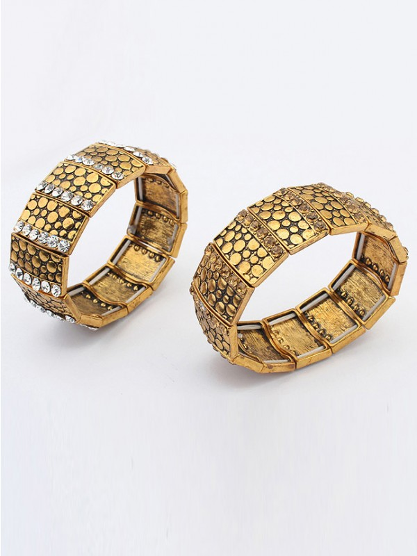 Chic Occident Exotic Personality Wide version Elasticity Bracelet