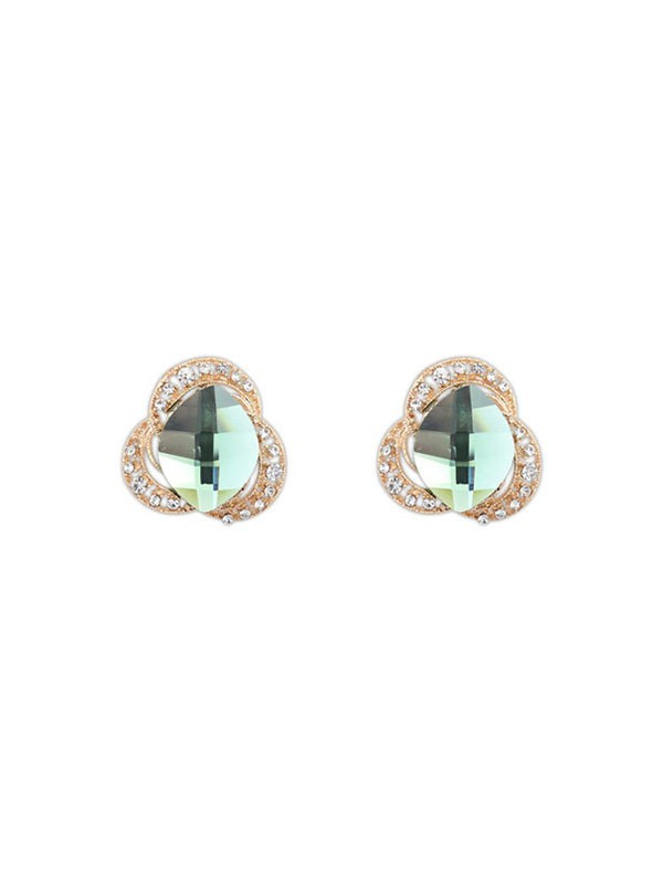 Gorgeous Occident Three Flowers Bohemia Customs Stud Earrings