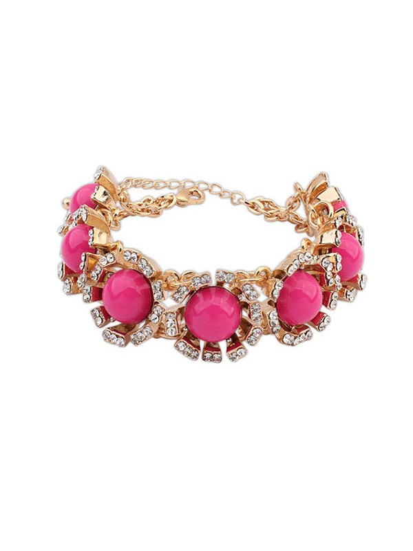 Gorgeous Occident New Street Shooting Collision Color Bracelet
