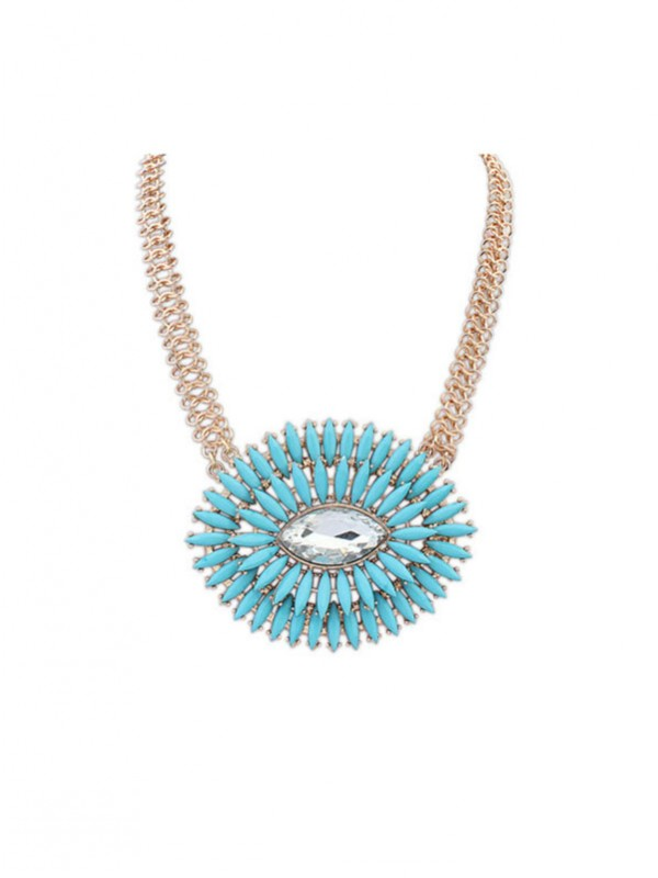 Gorgeous Occident Oval Fresh Necklace