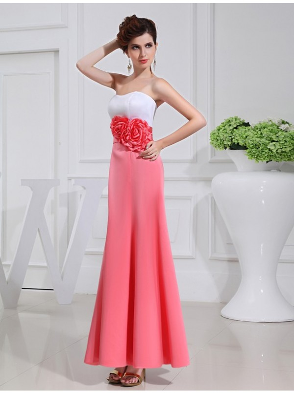 Gorgeous A-Line Sleeveless Satin Long Bridesmaid Dress