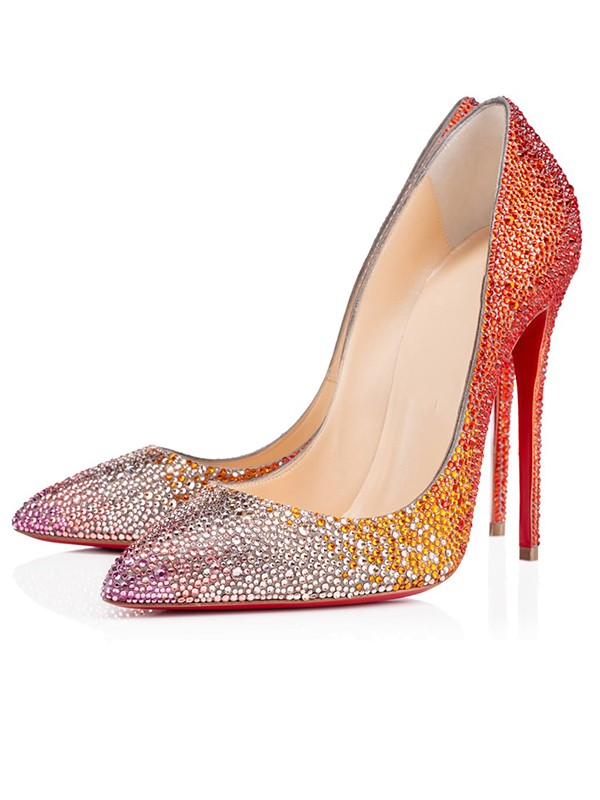 Beautiful Women Sparkling Glitter Peep Toe Stiletto Heel High Heels