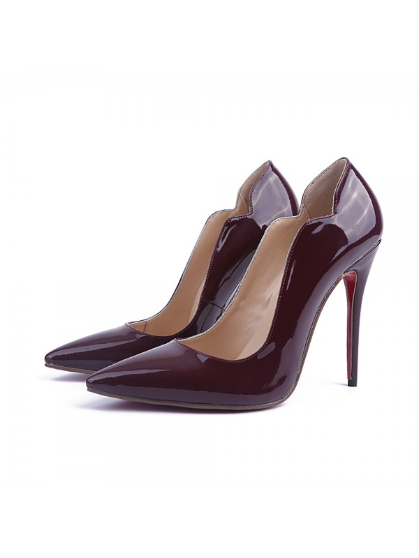 Beautiful Women Patent Leather Stiletto Heel Closed Toe Office High Heels