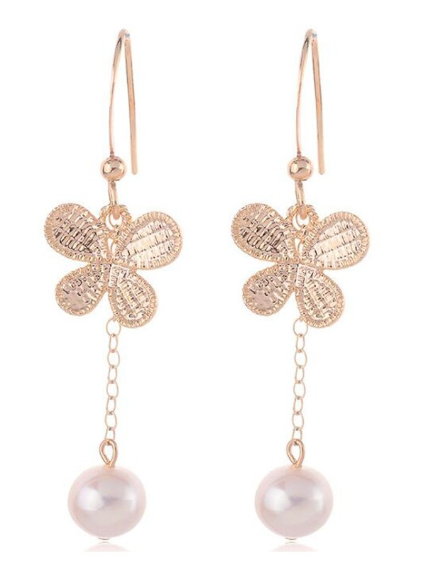 New Hot Sale Korean New Hot Sale Pearl With Butterfly Earrings