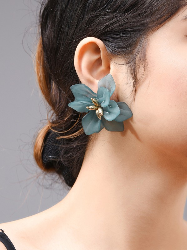 New Hot Sale Acrylic With Flowers Earrings