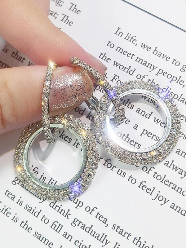 New Hot Sale Round Crystal Earrings