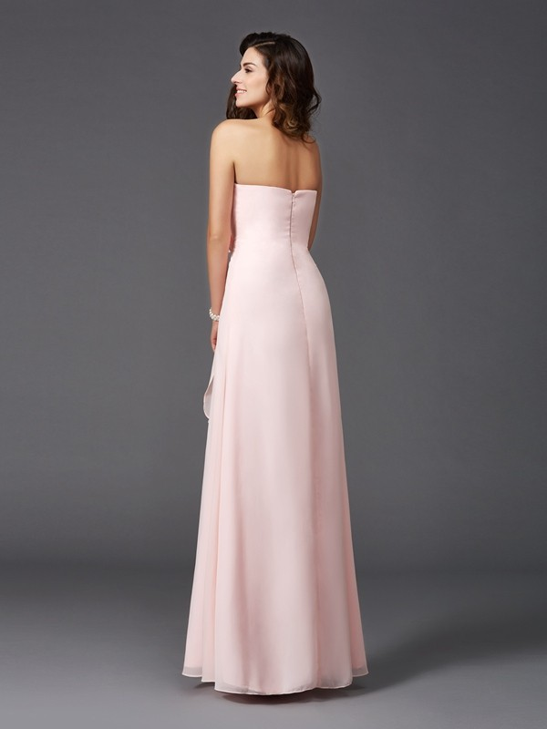 Nice A-Line Sweetheart Sleeveless Long Chiffon Bridesmaid Dress