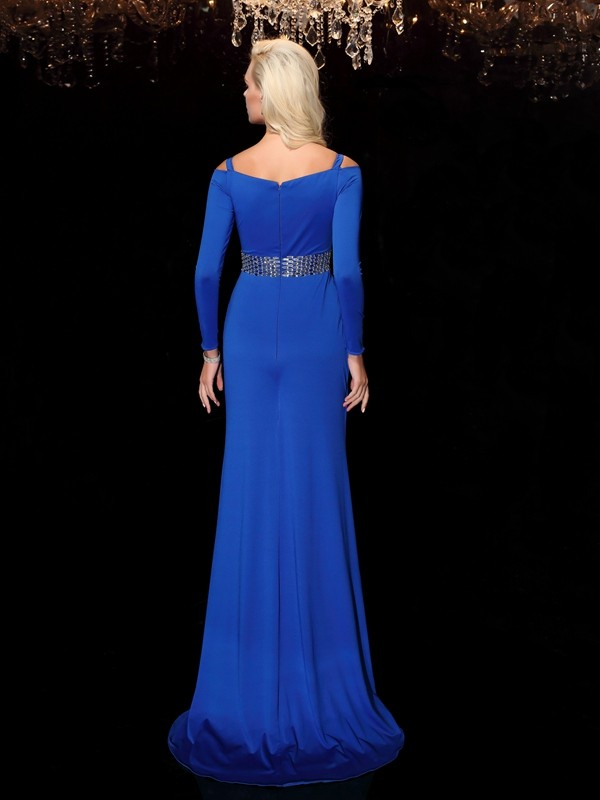 Glamorous Sheath Bateau Long Sleeves Long Spandex Dress
