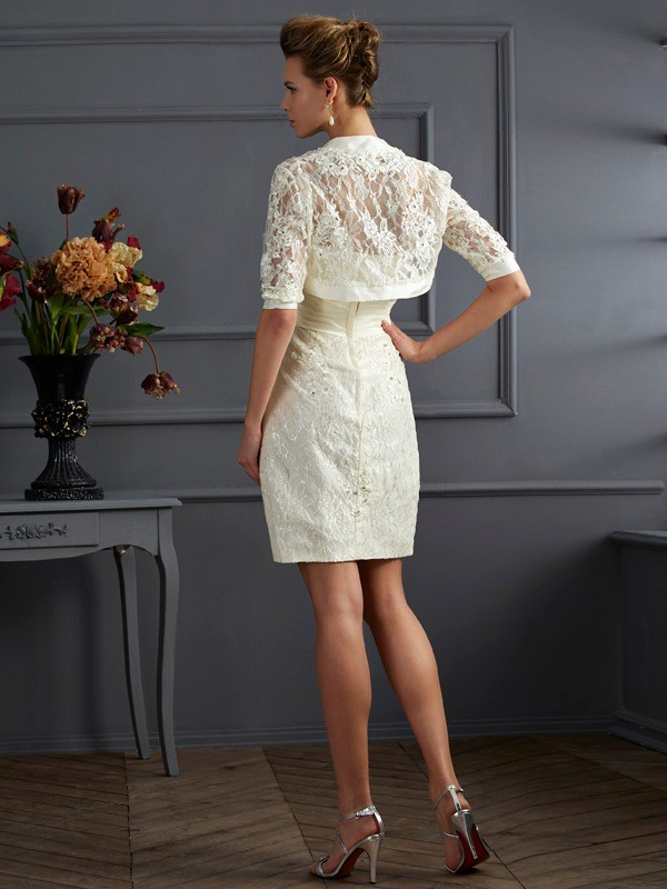 Chic Lace Short Sleeves Special Occasion Wrap