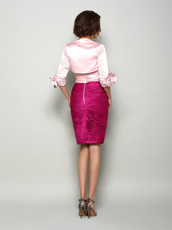 Stylish 1/2 Sleeves Satin Special Occasion Wrap