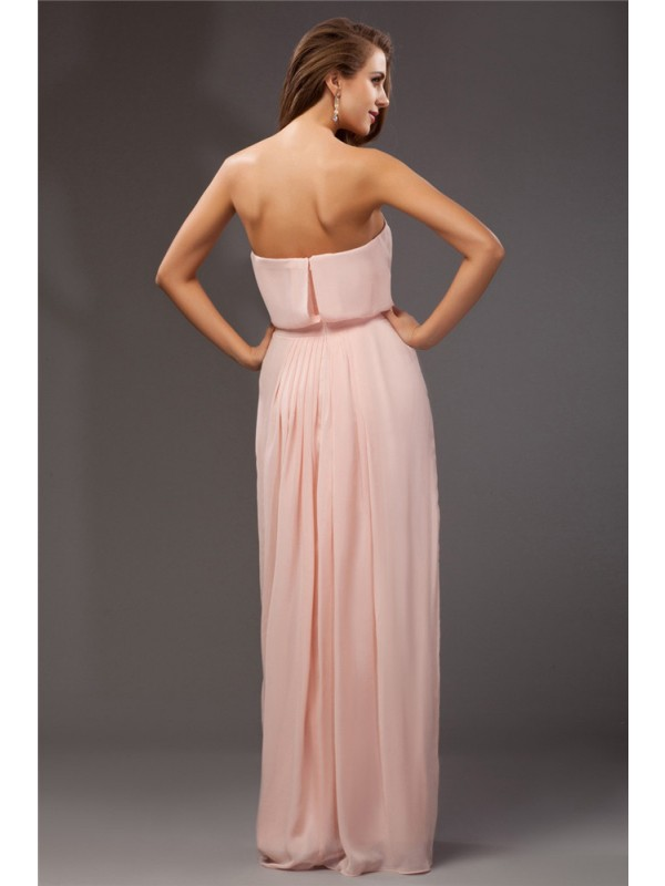 6abcf5fe2c ... Hot Sale Sheath Strapless Sleeveless Long Chiffon Dress