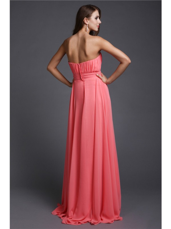 Gorgeous A-Line Strapless Sleeveless Long Bridesmaid Dress