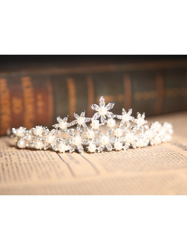 Beautiful Alloy Clear Pearl Wedding Headpiece