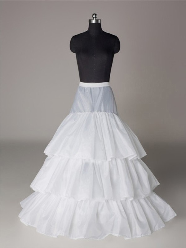 New Nylon A-Line 3 Tier Floor Length Slip Wedding Petticoat