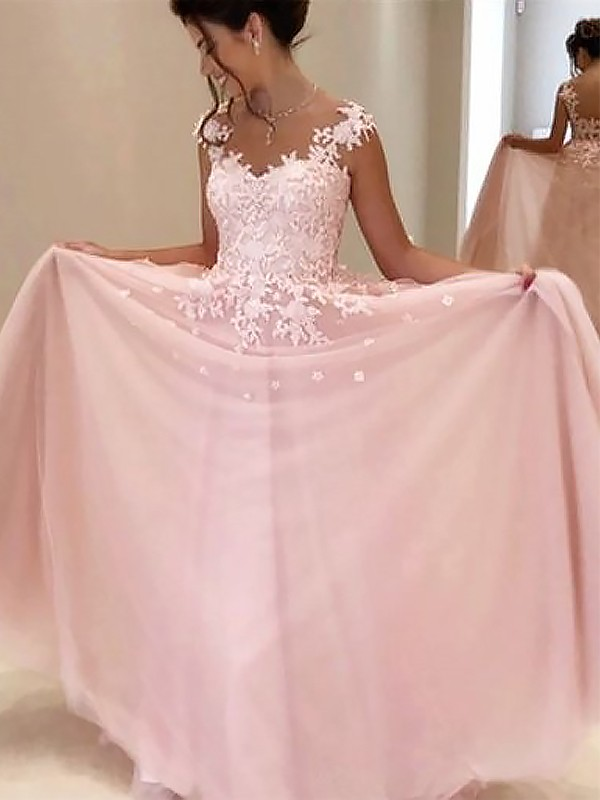 Gorgeous A-Line Sweetheart Sleeveless Floor-Length Tulle Dress