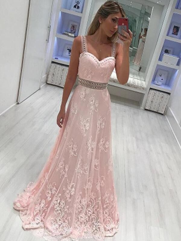 Unique A-Line Sweetheart Sleeveless Floor-Length Satin Dress