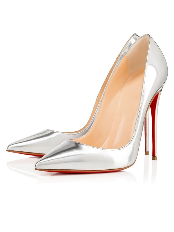 Beautiful Women Closed Toe Patent Leather Stiletto Heel High Heels
