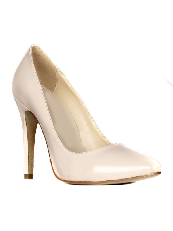 Chic Women Patent Leather Stiletto Heel Closed Toe High Heels