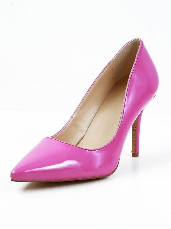 Chic Women Stiletto Heel Patent Leather Closed Toe High Heels