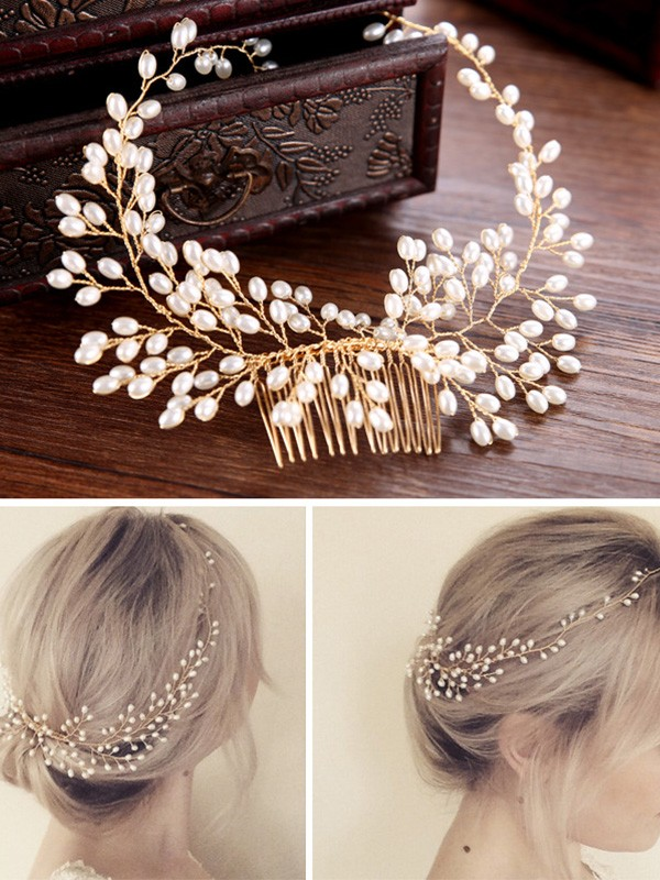 Charming Czech Pearl Headpiece