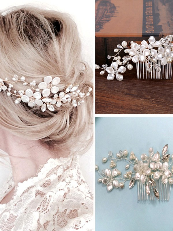 Stunning Czech Pearl Headpiece