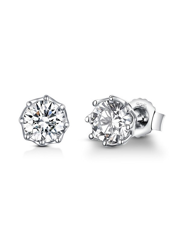 New Hot Sale Silver With Cubic Zirconia Earrings